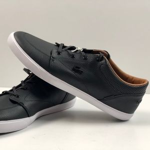 Lacoste Bayliss Vulc PRM Black Leather Sneakers